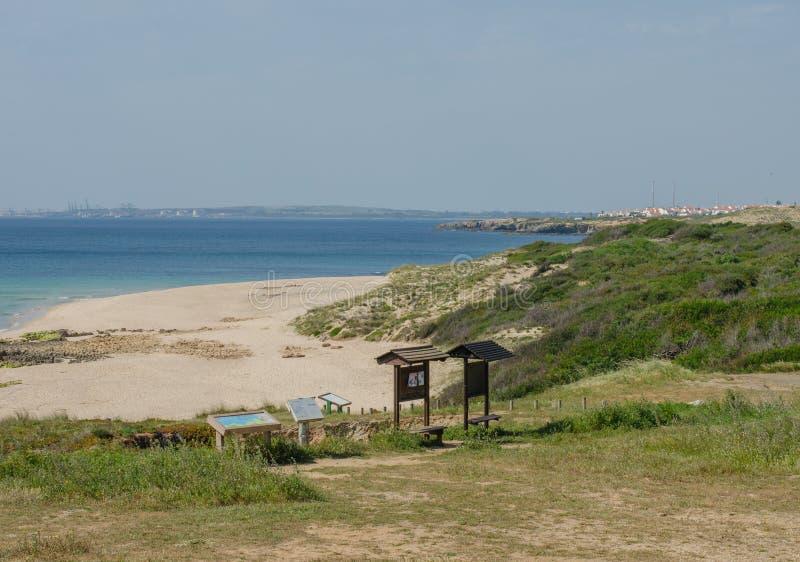 O Praia a Dinamarca Ilha faz a praia de Pessegueiro perto de Porto Covo, Portugal imagens de stock royalty free
