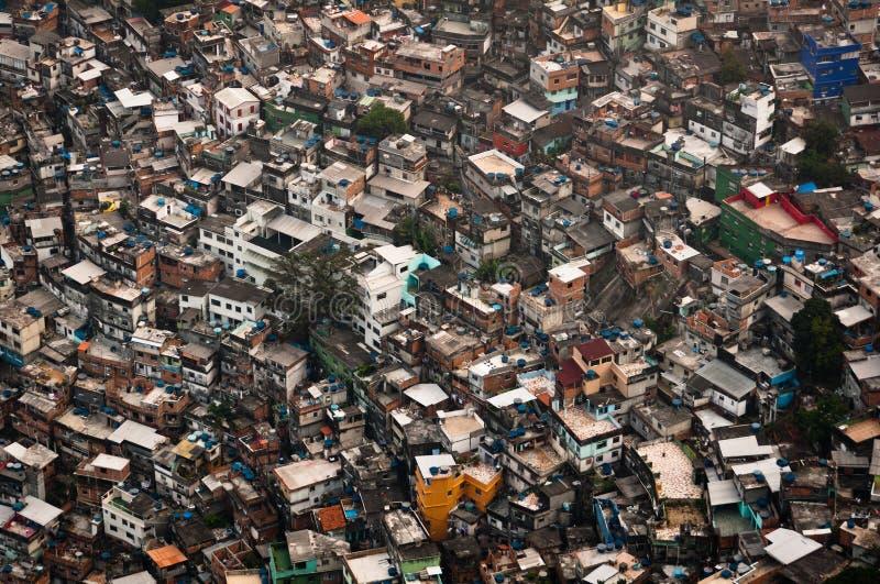 O precário o mais grande em Ámérica do Sul, Rocinha, Rio de janeiro, Brasil fotos de stock royalty free