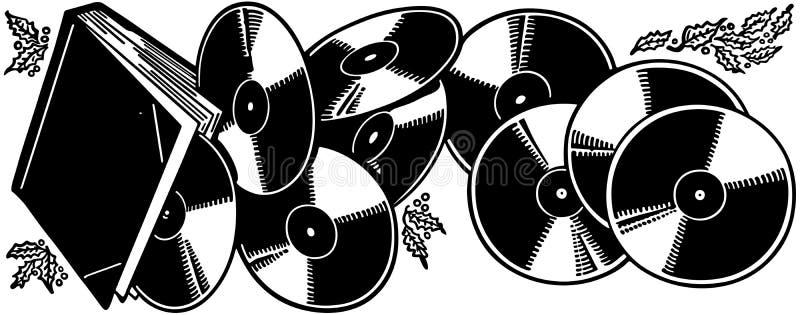 O presente de registros de vinil ilustração do vetor