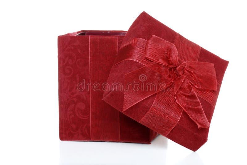 O presente do Natal abriu foto de stock royalty free