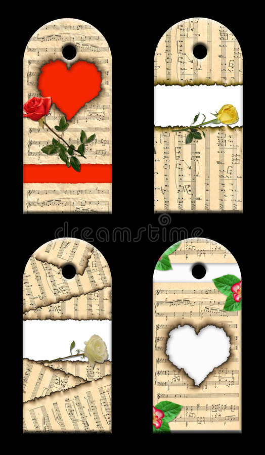 O presente etiqueta rosas dos whis. fotografia de stock royalty free