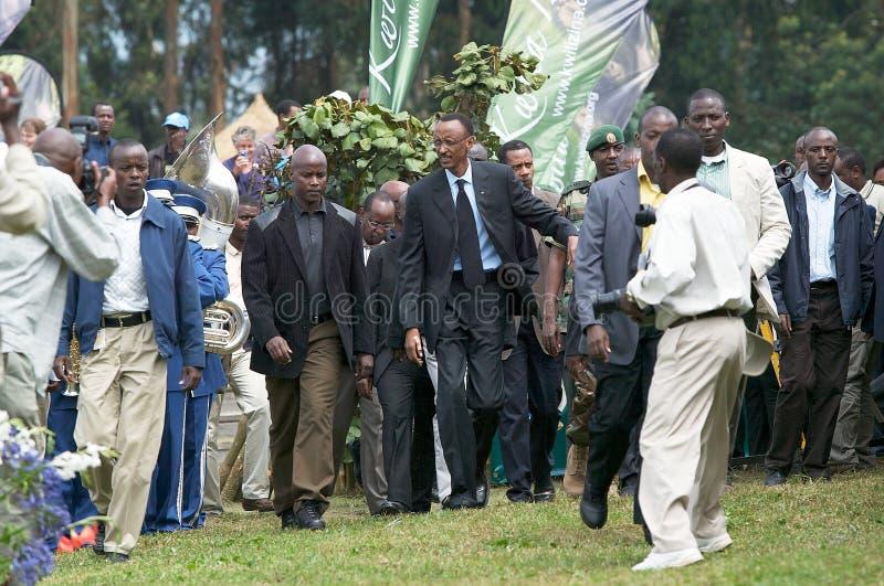 O presidente de Rwanda Paul Kagame fotos de stock royalty free