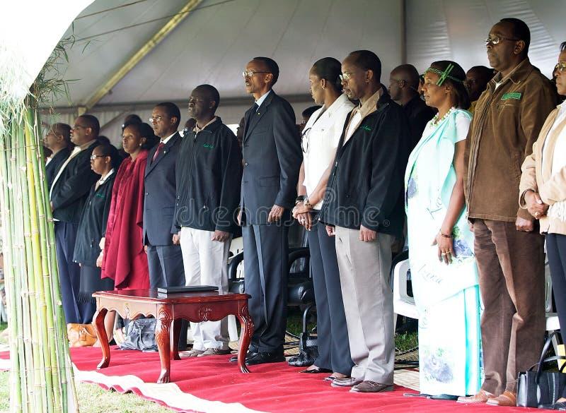 O presidente de Rwanda Paul Kagame imagens de stock royalty free