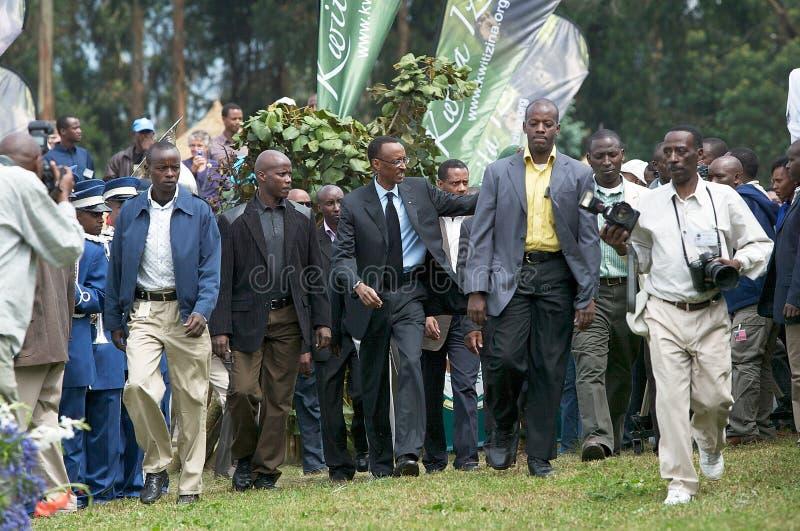 O presidente de Rwanda Paul Kagame foto de stock