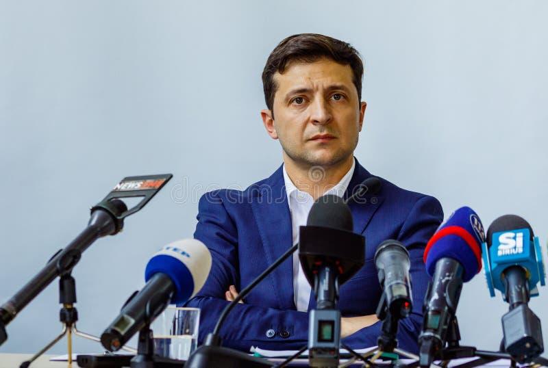 O presidente de Ucrânia Volodymyr Zelenskyy visitou Uzhgorod imagens de stock royalty free