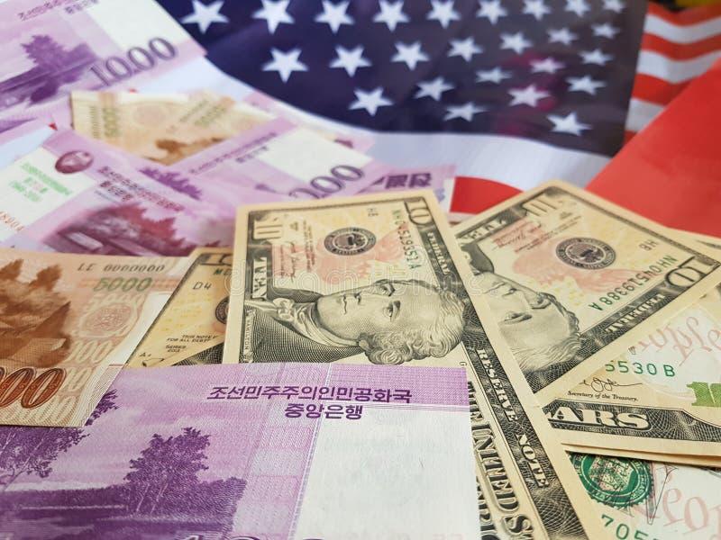 O presidente do Estados Unidos indicou em uma declaração de política que encontrará líderes norte-coreanos em Hanoi, Vietname fotos de stock