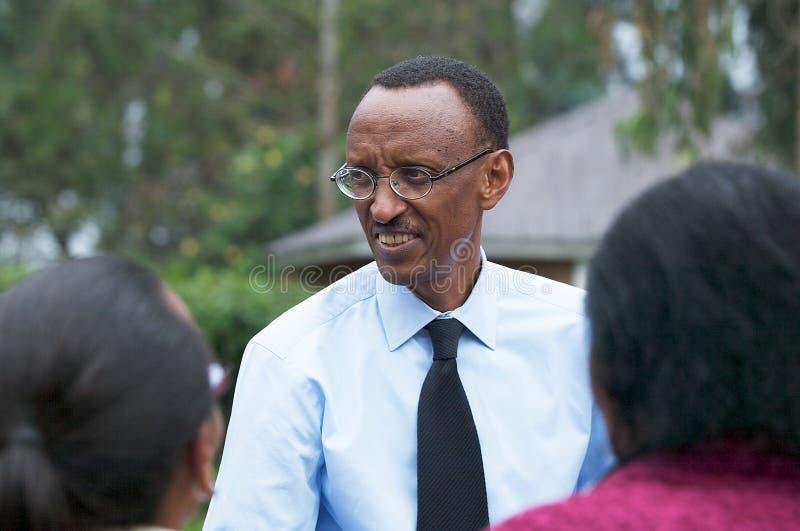 O presidente do Rwanda Paul Kagame imagem de stock