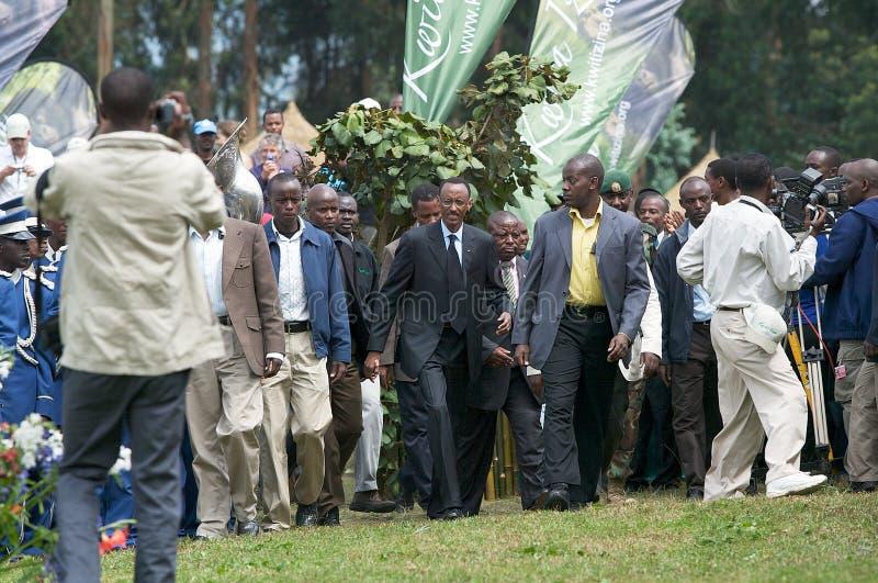 O presidente do Rwanda Paul Kagame imagens de stock