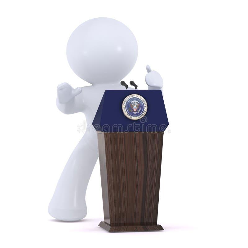 O presidente dos Estados Unidos da América ilustração stock