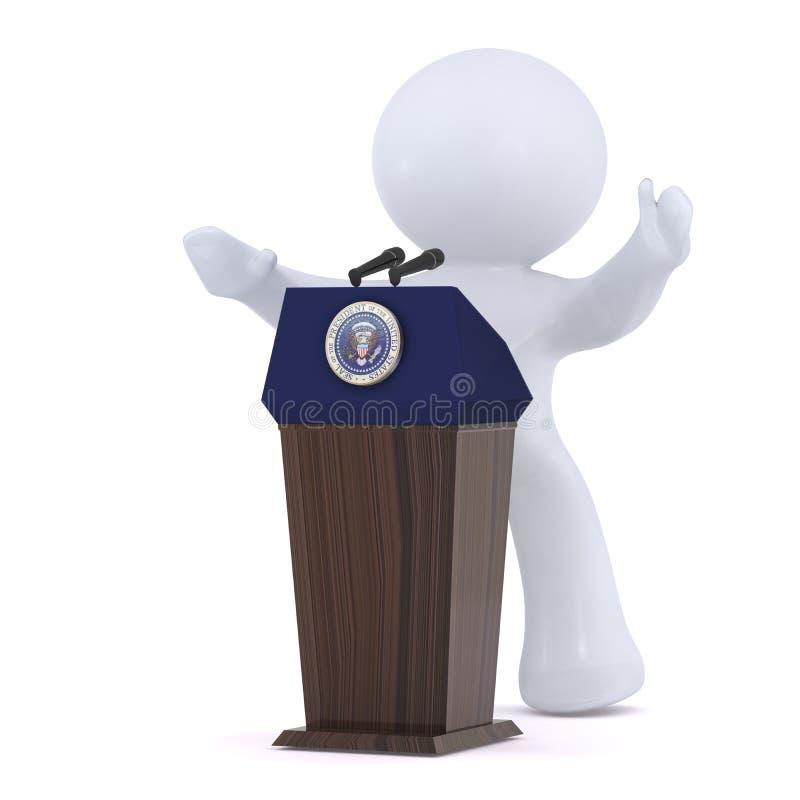 O presidente dos Estados Unidos da América ilustração do vetor