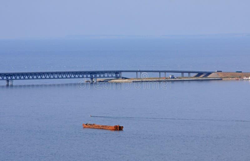 O presidente Ponte em Ulyanovsk fotos de stock