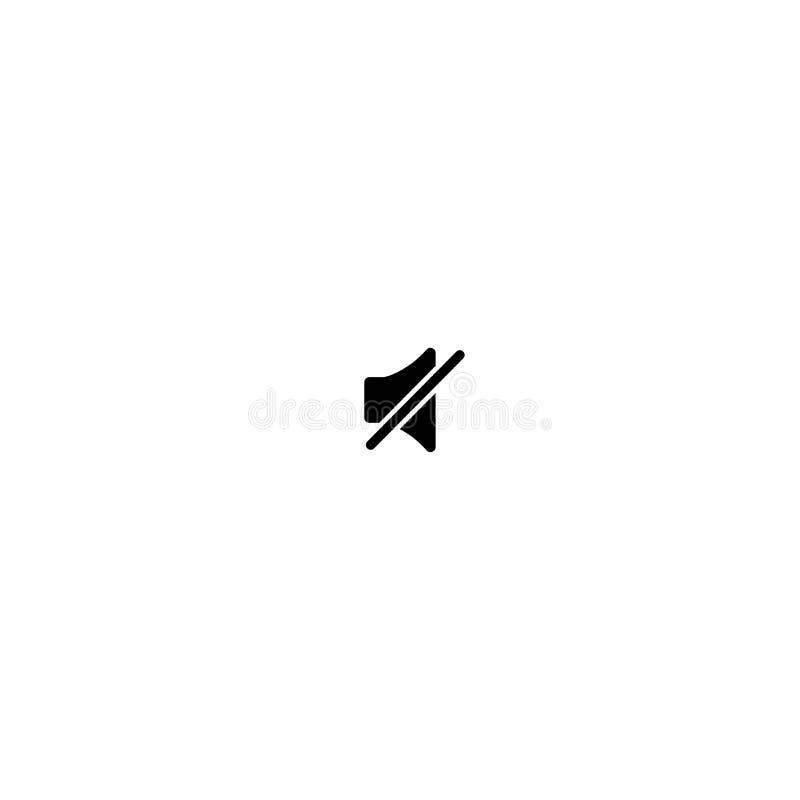 O preto cruzou o orador audio isolado no fundo branco N?vel do volume, alto ou quieto ilustração do vetor