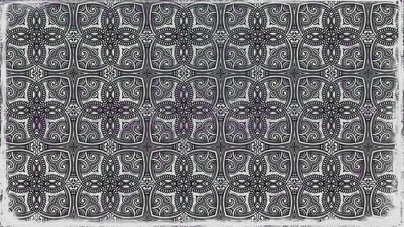 O preto e Gray Decorative Floral Ornament Background modelam o molde do projeto ilustração royalty free