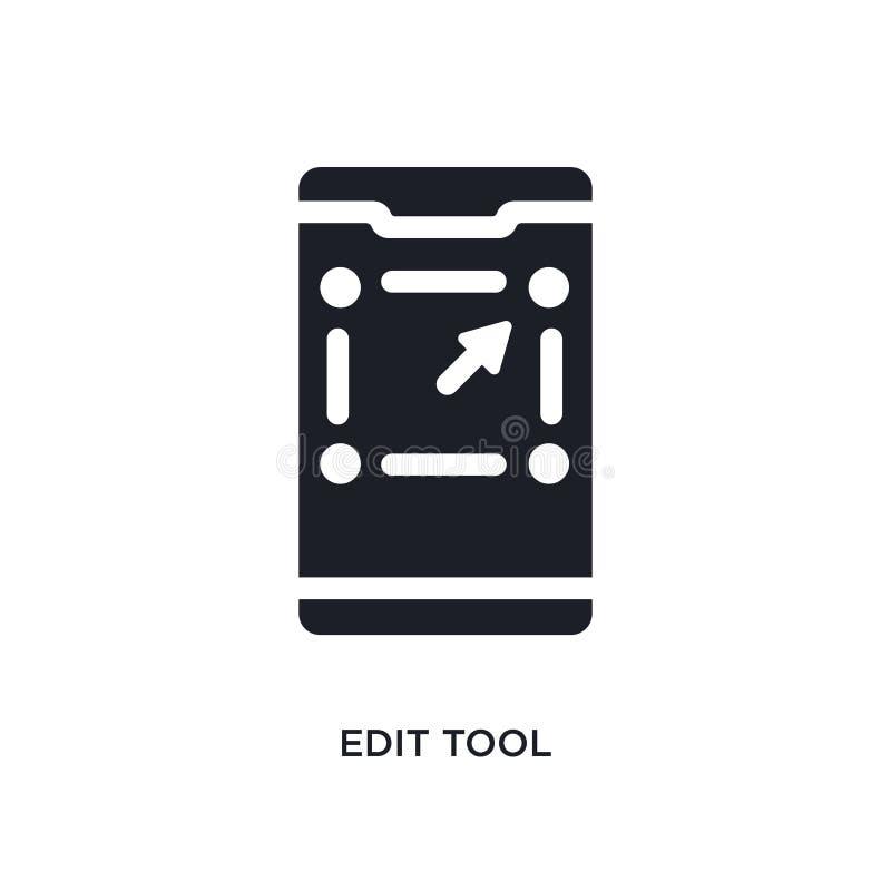 o preto edita o ícone isolado ferramenta do vetor ilustra??o simples do elemento dos ?cones m?veis do vetor do conceito do app ed ilustração stock