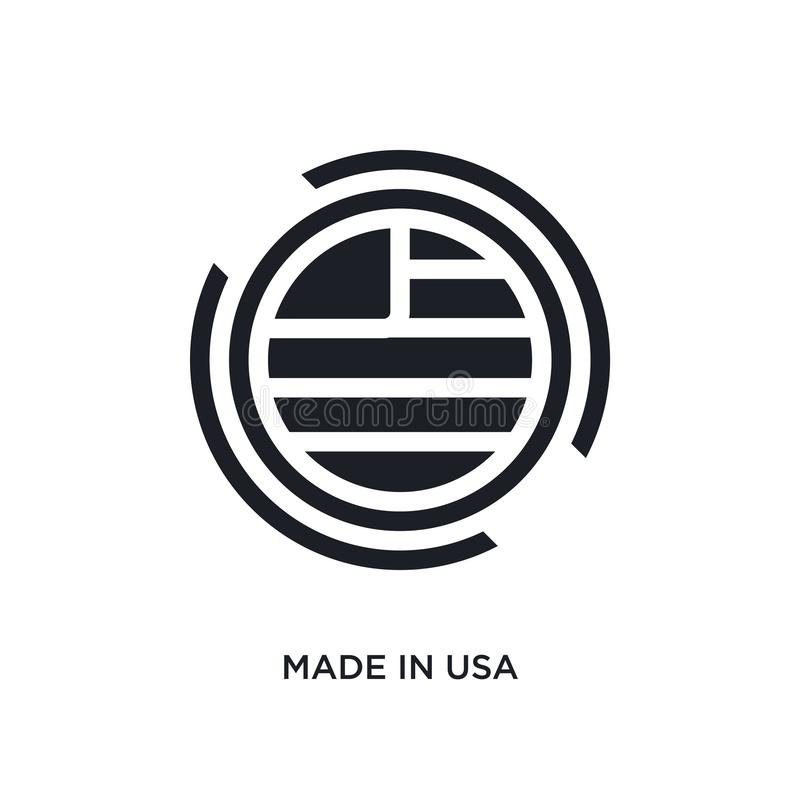 o preto fez no ícone isolado EUA do vetor ilustração simples do elemento dos ícones do vetor do conceito de Estados Unidos da Amé ilustração do vetor