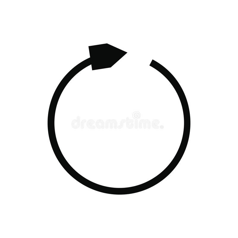 O preto refresca o ícone da seta ilustração stock