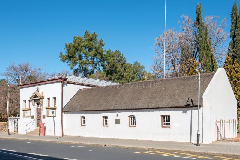 O primeiro museu de Raadsaal em Bloemfontein fotografia de stock