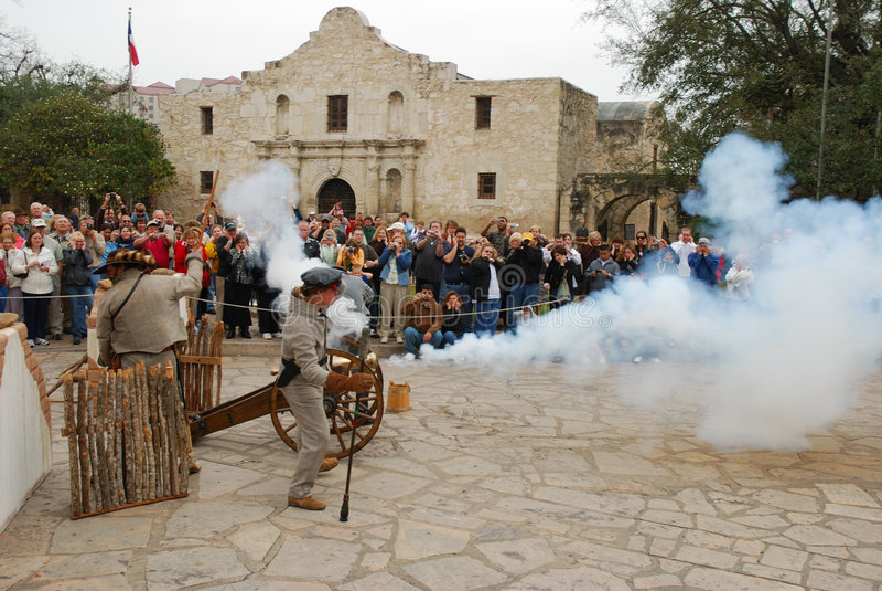 O primeiro tiro no Alamo imagem de stock royalty free