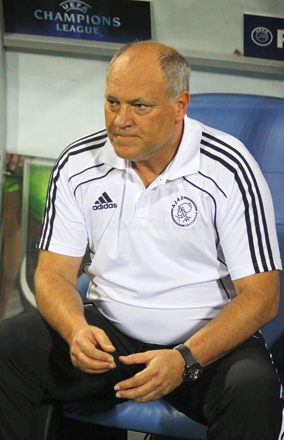 O primeiro treinador de AFC Ajax Martin Jol fotos de stock