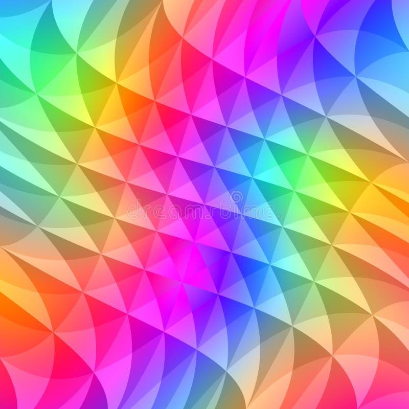 O prisma esquadra o teste padrão ilustração do vetor