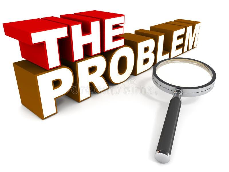 O problema ilustração stock