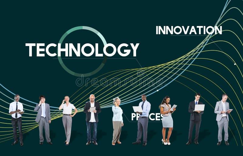 O processo da tecnologia inova conceito dos dados da rede foto de stock