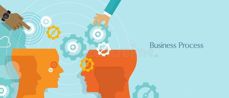 O processo de negócios alinha o fluxo de trabalho da gestão ilustração stock