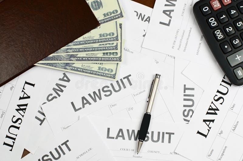 O processo legal dos formulários está na tabela imagem de stock royalty free