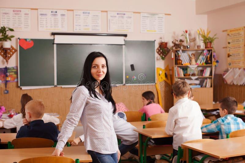 O professor começa a lição fotografia de stock royalty free