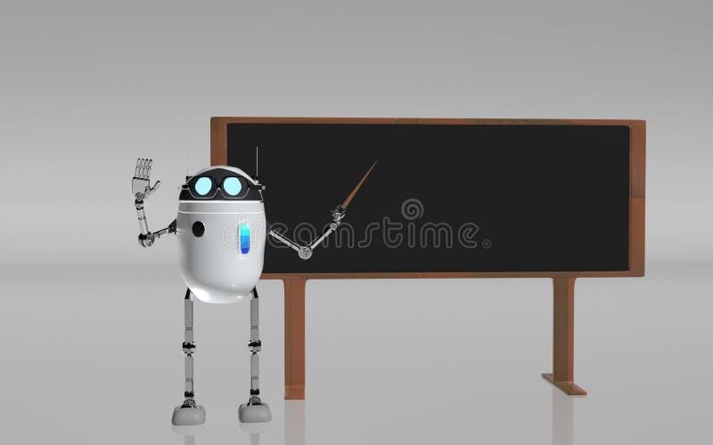O professor 3d do robô rende ilustração royalty free