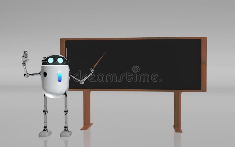 O professor 3d do robô rende ilustração stock