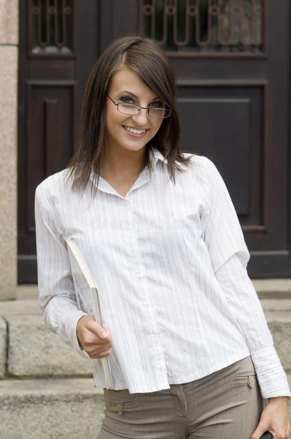 O professor de sorriso imagem de stock