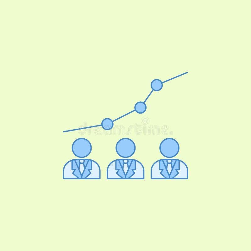o progresso dos candidatos para eleições coloca o ícone do esboço Elemento do ícone das eleições para apps móveis do conceito e d ilustração stock