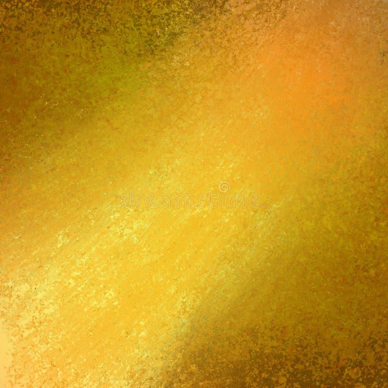 O projeto abstrato do fundo do ouro amarelo, beira tem bordas da cor escura do preto, o feixe do projetor do sol ou da luz do sol ilustração stock