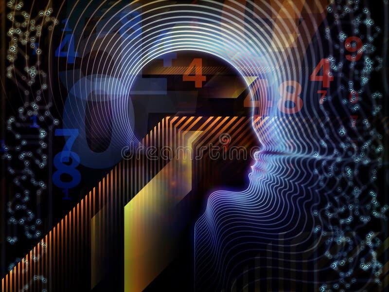 Tecnologia humana metafórico ilustração do vetor
