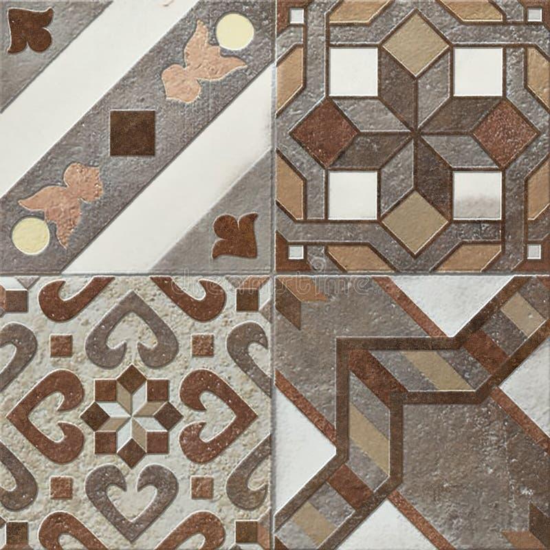 O projeto bege rústico do mosaico da parede, decoração bonita do mosaico, telha o mosaico de alta resolução fotos de stock