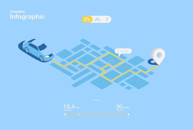 O projeto criativo do ux do ui de navega o app infographic Ilustração do vetor ilustração stock
