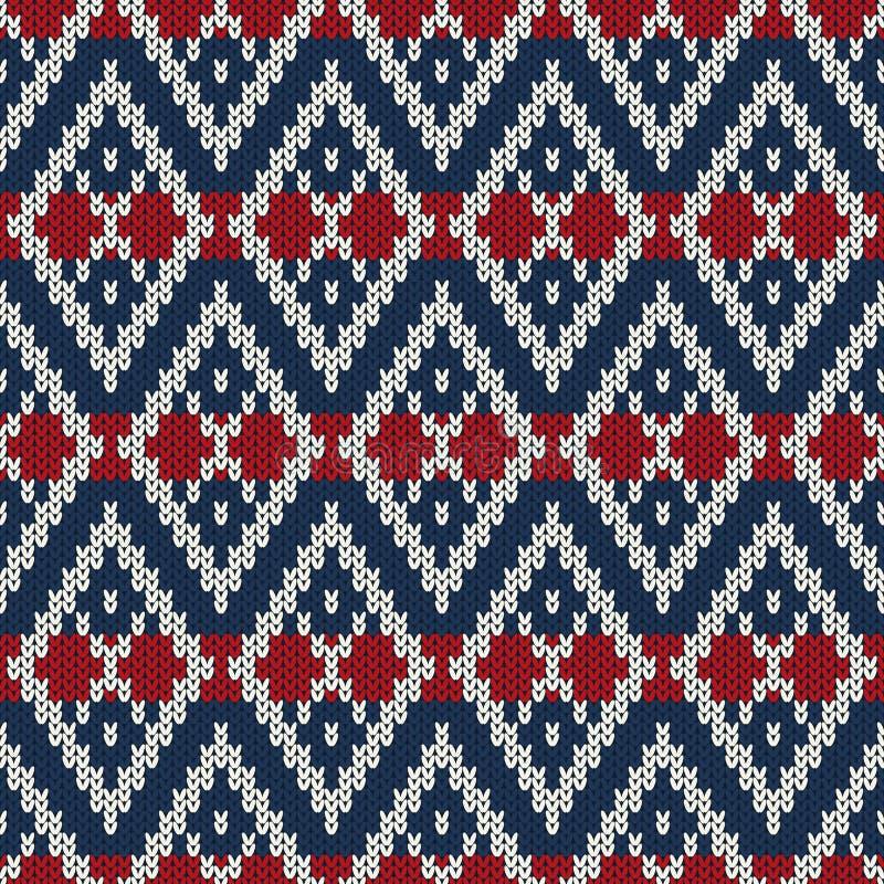 O projeto da camiseta do feriado de inverno nas lãs fez malha a textura ilustração royalty free