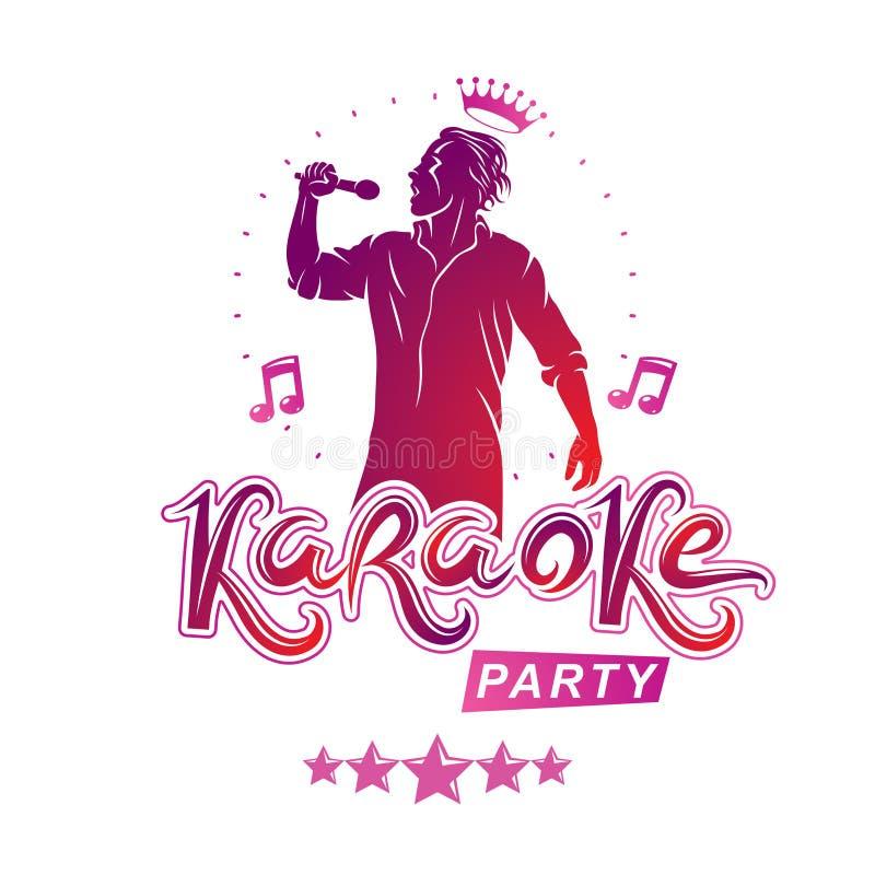 O projeto da tampa do vetor dos insetos do partido do karaoke criou usando n musical ilustração do vetor