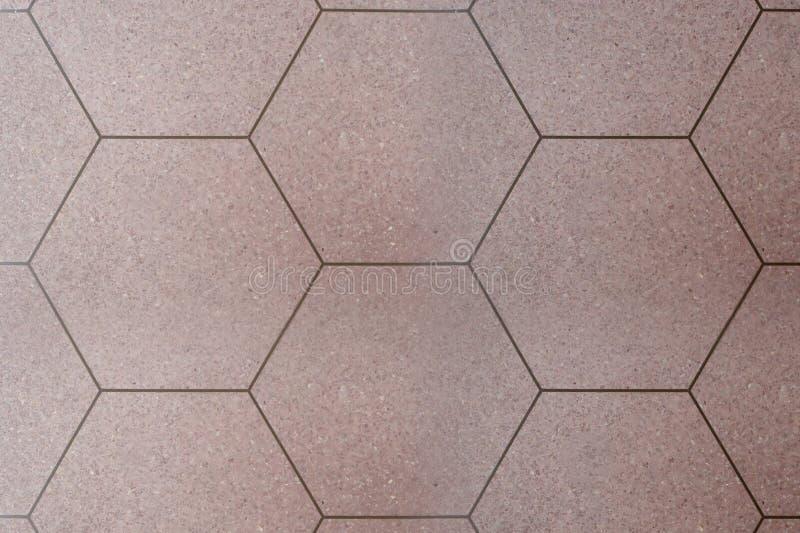 O projeto das telhas do hexágono do vintage foto de stock royalty free