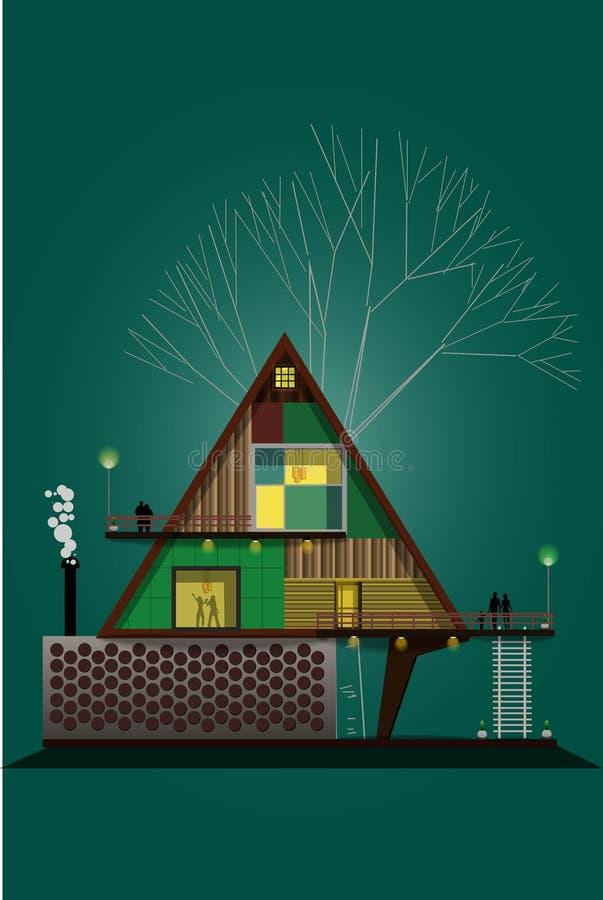 O projeto de conceito do triângulo da casa ideal foto de stock