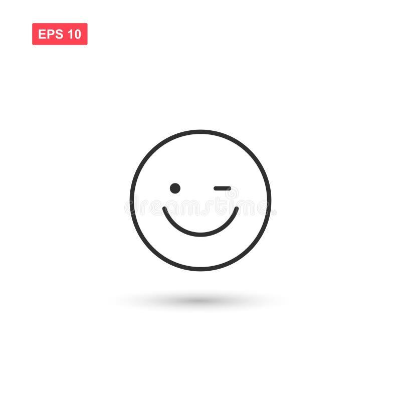 O projeto de sorriso do vetor do ícone da cara isolou-se ilustração do vetor