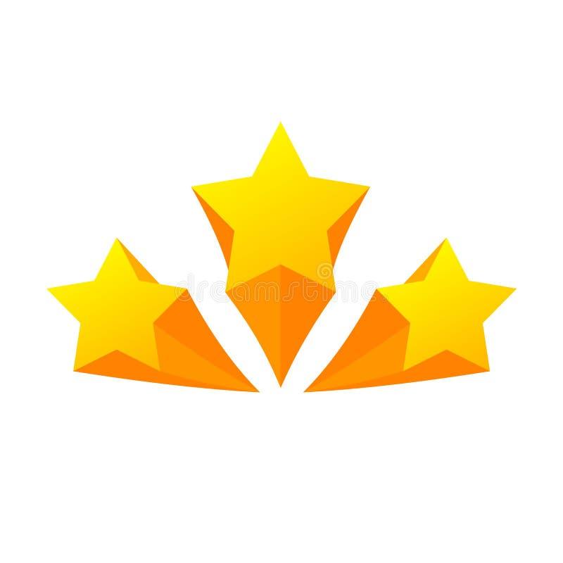 O projeto do fundo com amarelo stars a ilustração Ícones amarelos da estrela ilustração royalty free