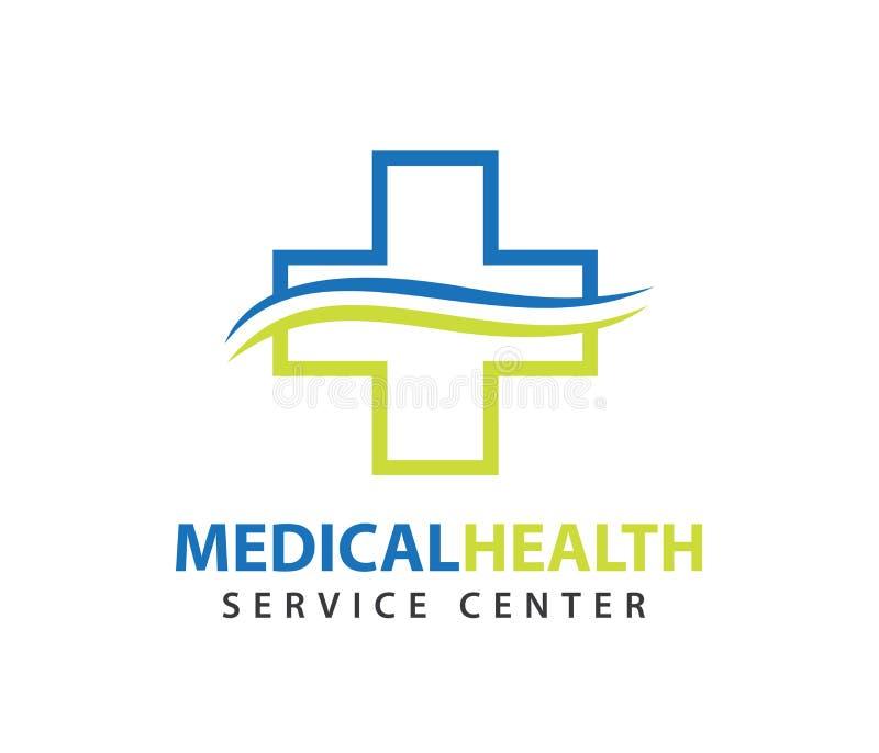 O projeto do logotipo do vetor para cuidados médicos, doutor saudável da clínica da família, bem-estar centra-se, farmácia, clíni ilustração do vetor