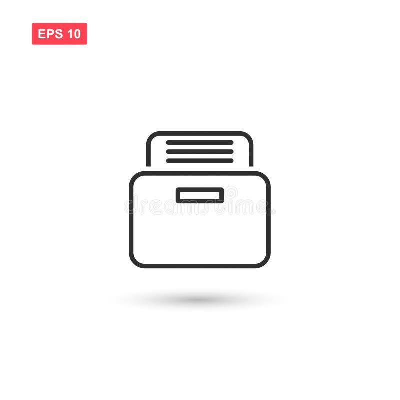 O projeto do vetor do ícone do arquivo isolou 3 ilustração royalty free