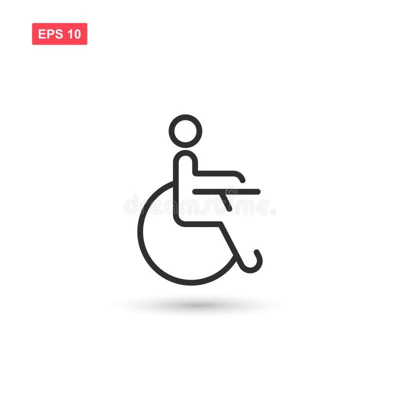 O projeto do vetor do ícone da desvantagem da inabilidade isolou 4 ilustração do vetor