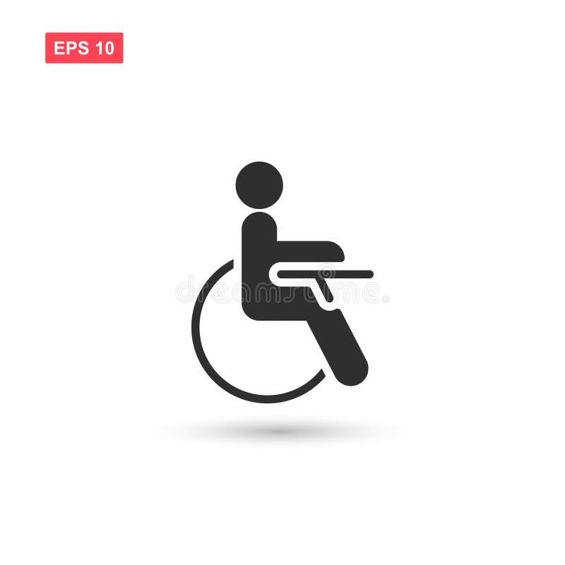 O projeto do vetor do ícone da desvantagem da inabilidade isolou 3 ilustração stock