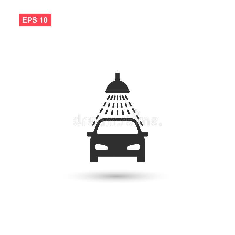 O projeto do vetor do ícone da lavagem de carros isolou-se ilustração royalty free