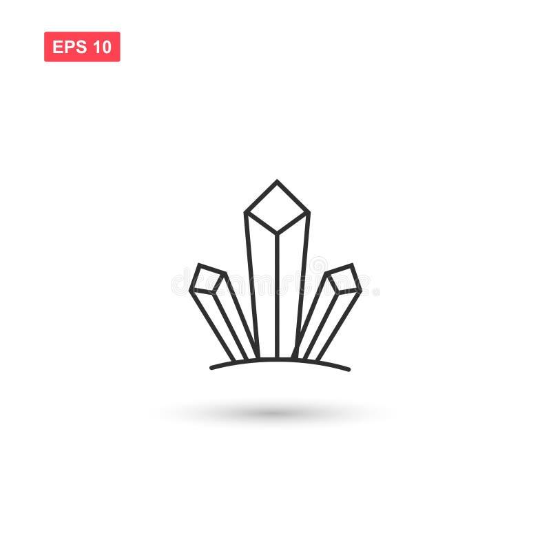 O projeto do vetor do ícone dos cristais das drogas isolou 2 ilustração do vetor