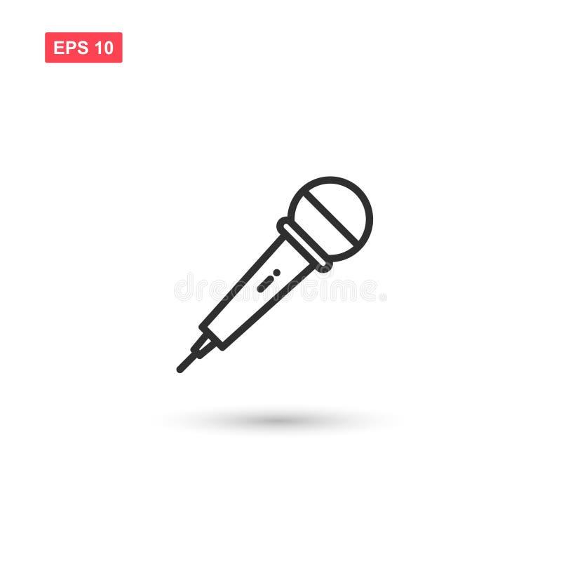 O projeto do vetor do ícone do microfone do karaoke isolou 2 ilustração royalty free